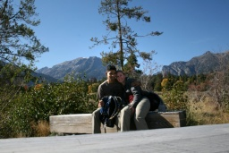 <p>My dva a Grand Teton.<br />__________<br />Me, you and Grand Teton.</p>