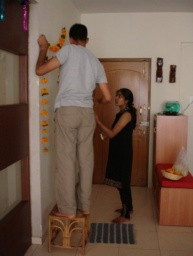 <div>Zdobíme byt.</div>