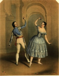Fanny Elssler and Jules Perrot in La Castilliana Bolero