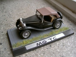 MG TC - upravený model - Matchbox 1:37