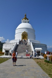 World Peace Stupa nad jazerom Phewa