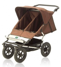 Urban Double Stroller in Chocolate