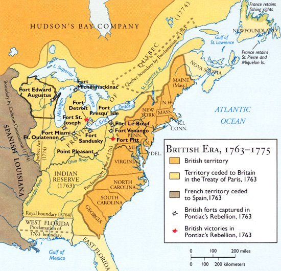 early british north american colonies