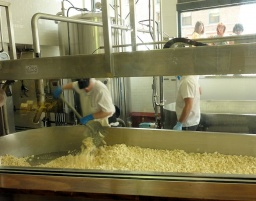 "<font size=""1"">Tady se dělá sýr.<br />______________<br />Here they're making cheese.</font>"