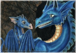 """Younger Siblings,"" Blue Baby Dragon & Sister,  © Sandra  Staple"