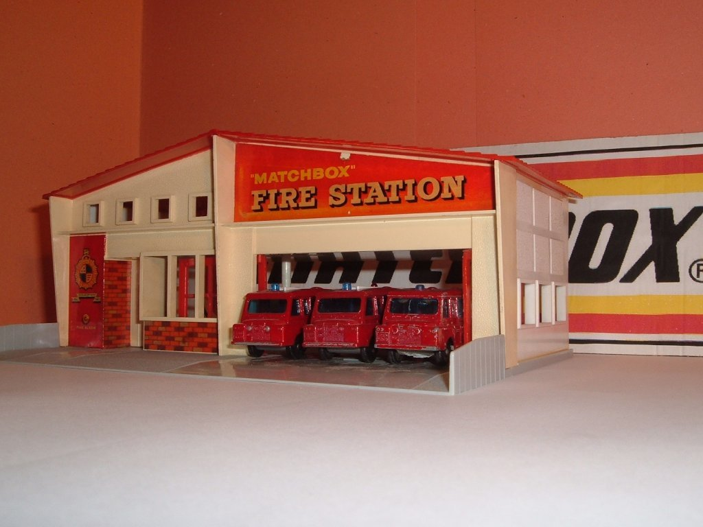 No A MF 1 a, Matchbox Fire Station, 1963
