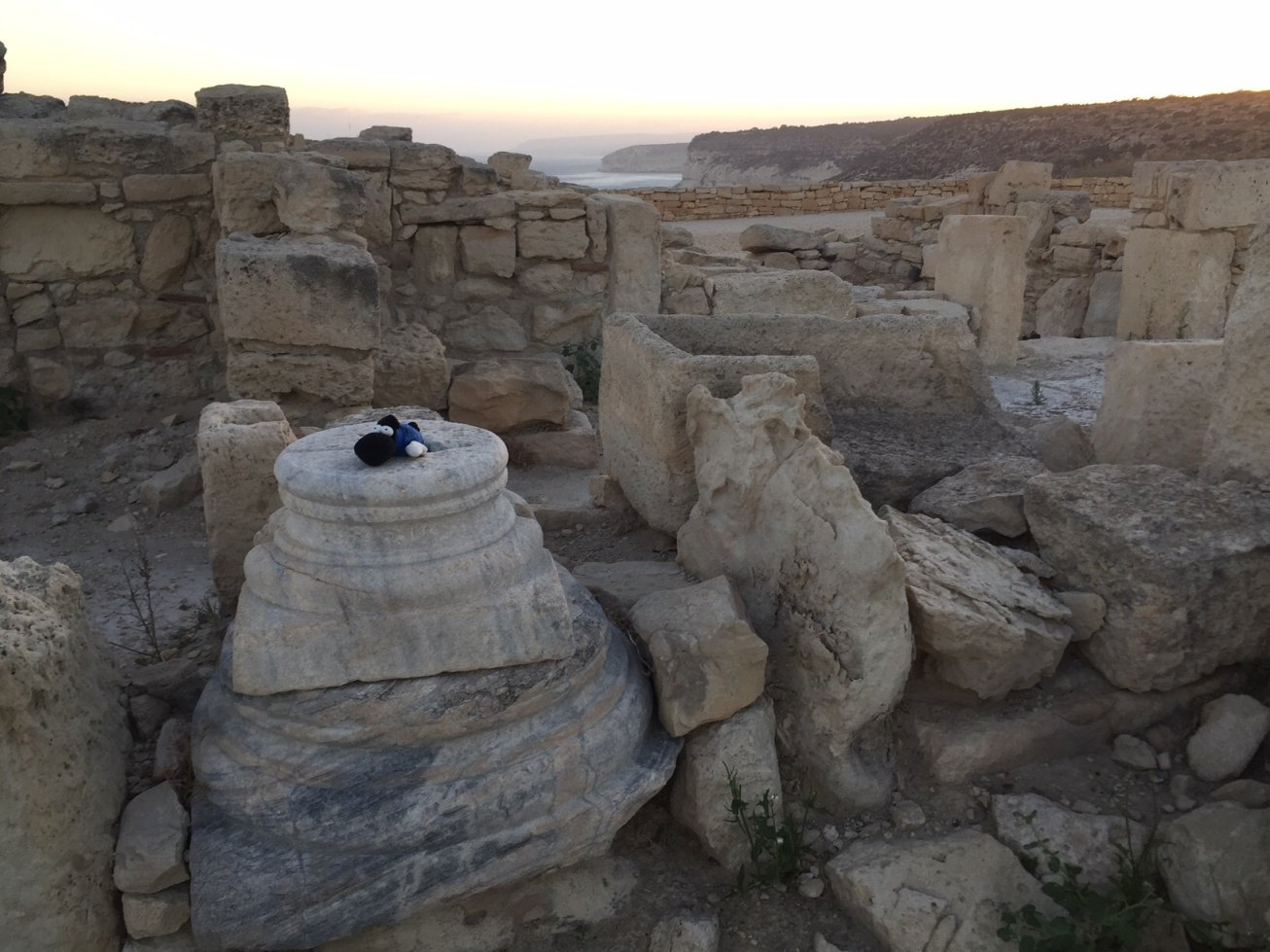 Ferda exploring the Kourion Archaeological Site.JPG
